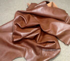 WS01 Leather Cow Hide Skins Cowhide Upholstery Craft Fabric Russet Brown