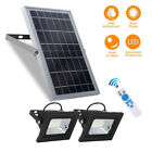 2 Light Units Solar Flood Lights with Larger Panel Dusk to Dawn F Outdoor Indoor