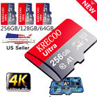 256GB Micro Memory Card 10 Fast 4K Class10 Flash TF Card with Adapter