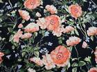 Bullet Printed Liverpool Textured Fabric Stretch Peach Coral Navy Floral V32