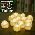 Battery Operated Timer Candles, 12 Packs LED Flameless Tea Lights Halloween