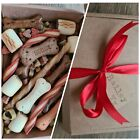 Dog Puppy PICK N MIX Treat Hamper- Gift Box Birthday Christmas Pet Treats Chew