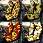 2Pcs Universal Car Front Seat Full Covers Protectors Sunflower Printin