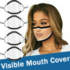 Visible Face Mask Transparent Face Cover Shield With Clear Window  For The Deaf