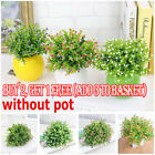 Artifical Flowers Orchid Grass Outdoor Grass Fit Potted Plants Home Garden Decor