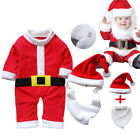 3PCS Baby Boys Girls Christmas Santa Claus Costume Romper Xmas Outfits Clothes