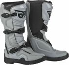 Fly Racing Maverik Mens MX Offroad Boots Gray/Black