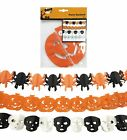 Halloween Party Hanging Garland Pennant Banner Decorations Paper Pumpkin Skull