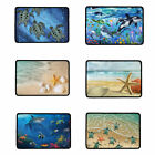 Washable Mats Ocean Animals Polyester Door Floor Pads for Home Indoor Rugs Decor