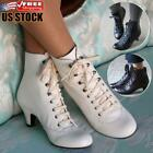 Women's Gothic Boots Victorian Steampunk Kitten Heel Lace Up Ankle Boots