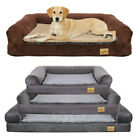 Large Orthopedic Dog Bed Sofa Style Pet Chaise Lounger Spine Supportive Bolster