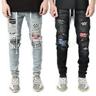 Men Skinny jeans Ripped Jeans Frayed Jeans Slim Fit Pant Long Pant Casual Pants