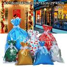 5 Pcs Christmas Storage Bag Gift Candy Drawstring Packing Stocking Cello Party