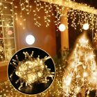 5M Curtain Icicle Led String Light Droop 0.4/0.5/0.6m Christmas Holiday Garlands