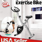 Folding Exercise Bike + App Program, Tablet Stand & Large and Comfortable Seat