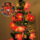 Fall Maple Leaves LED Fairy String Light Leaf Lamp Garland Party Christmas-Decor