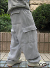 Men's Loose Fit Cargo Baggy Pants Thick Athletic Street Working Casual Trousers
