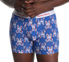 Psycho Bunny Men's Psycho 'Merica Blue All Over Bunny Boxer Brief