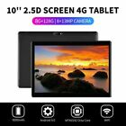 "10.1"" WIFI/4G-LTE HD Metal Tablet Android 9.0 Pad 8+128G GPS Dual SIM Cameras US"