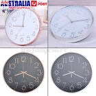 Wall Clock Quartz Round Wall Clocks Silent Non Ticking Battery Operated 12 Inch#