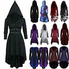 Women Halloween Medieval Hooded Dress Gothic Witch Cosplay Vampire Party Costume