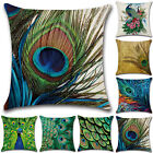 Cushion Covers Peacock Pillow Case Square Cover Sofa Waist Throw Bed Home Decor