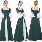 Womens Renaissance Costume Maiden Queen Princess Party Prom Dress with Pearl
