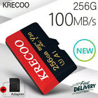 KRECOO Micro Memory SD Card 256GB C10 100MB/S Fast Flash TF Card with Adapter US