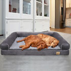 Comfy Calming Dog Bed Solid Memory Foam Dog Bed Thicken Self Heating Lounger Bed