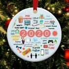 2020 Pandemic Quarantine Ornament Christmas Tree Ornament Funny Family Xmas Gift