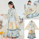Thirteen Yu Hanfu Girls Dress Tops Vest Skirt Warm Fur Winter Ancient Costume