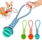 FJ- LN_ Pet Dog Puppy Cotton Rope Leakage Food Ball Molar Bite Resistant Chew Pl