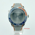 20ATM WR 41mm Sea-Master Style Diver Gray Watch Case With Strap Mods For PT5000