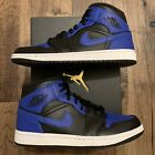 NEW Nike Air Jordan 1 Mid 'Hyper Royal' Black Men's Sizes [554724-077]