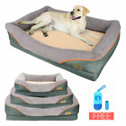 Waterproof Suede Orthopedic Pet Dog Couch Bed Soft Foam Cushion Basket Washable