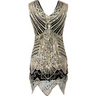 HOT Vintage Gatsby Sequin Beaded Hand-knit Fancy New Dresses Flapper 1920s Dress