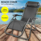 Zero Gravity Recliner Leisure Outdoor Garden Sun Lounger Foldable Chair
