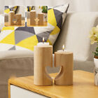 Wooden Candle Stick Holder Square & Round Wedding Decor Dinner Craft Party Decor