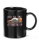 Cute Baby #Yoda mem When your song comes on movie film Coffee Mug