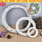Rattan Ring White Wreath Garland Hanging Vine Ring DIY Craft Xmas Ornaments