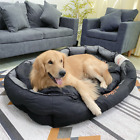 Oval Large Orthopedic Dog Bed Waterproof Toughchew Lounger Bed Nest House Sofa