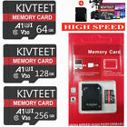 KIVTEET 256GB 128GB 64GB Micro Memory SD Card 275MB/S C10 Flash TF Card Phone