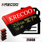 KRECOO 256GB 128GB 64GB Micro Memory SD Card Flash TF Card C10 With Adapter New