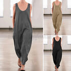 Women  s Strappy Wide Leg Long Playsuit Holiday Romper Jumpsuit Culotte Trousers