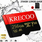 64GB 128GB 256GB Micro SDMemory Card Flash TF 108MBS Ultrathin Format Adapter