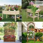 Multitype Elevated Raised Garden Bed Large Small Planter Box Flowers Herbs Breed