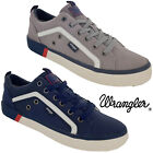 Wrangler Mens Casual Canvas Trainers Pumps Memory Foam Lightweight Shoes Lace