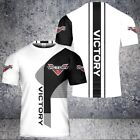 VICTORY Motorcycle T-Shirt for Men - Full Printing - US Size S-5XL FREE SHIPPING
