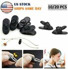 10/20x Headphone Earphone Cable Wire Cord Clips Clamps Collar Lapel Shirt Holder