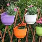 Hanging Plastic Flower Pot Planter Plant Pots Garden Balcony Fence Home Decor